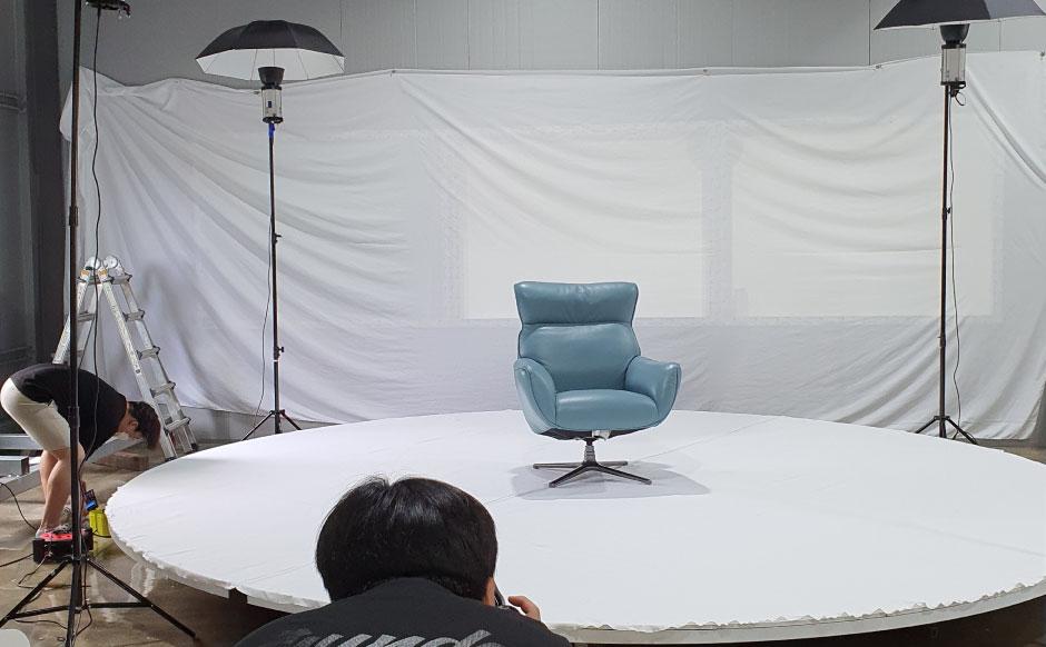 자동 촬영 대형 턴테이블 – 스마트 스튜디오